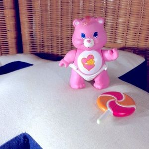 Vtg care bears baby hugs figurine & accessory VGC
